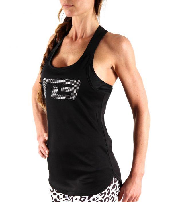 Fitness Tanktop Dames Dots Zwart - Muscle Brand-1