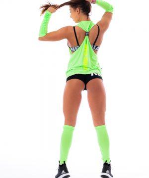 Fitness Tanktop Dames Groen Neon - Nebbia 226-2