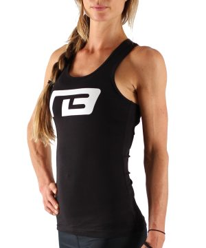 Fitness Tanktop Dames Perform Zwart - Muscle Brand-1