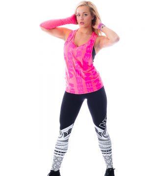Fitness Tanktop Dames Roze Neon - Nebbia 226-1