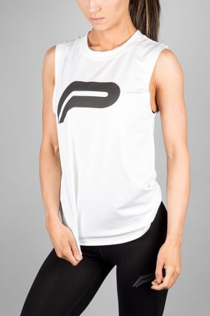 Fitness Tanktop Dames Wit - Pursue Fitness Flow Tank-1