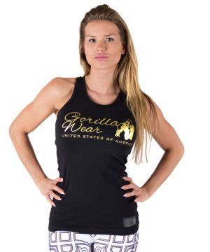 Fitness Tanktop Dames Zwart Goud - Gorilla Wear Florence-1