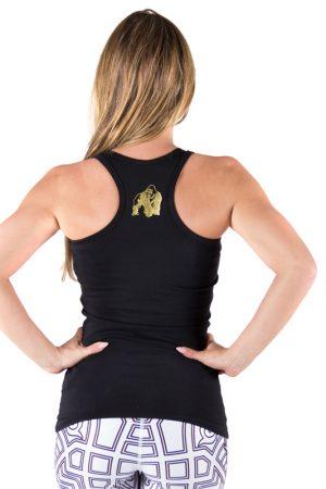 Fitness Tanktop Dames Zwart Goud - Gorilla Wear Florence-2
