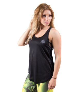 Fitness Tanktop Dames zwart grijs - Gorilla Wear Santa Monica-1