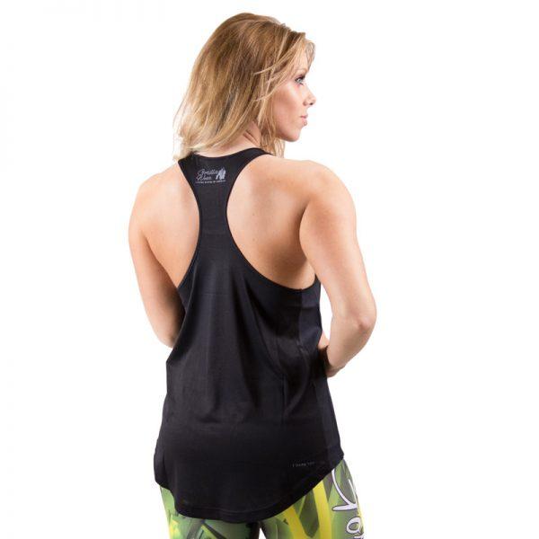 Fitness Tanktop Dames zwart grijs - Gorilla Wear Santa Monica-2