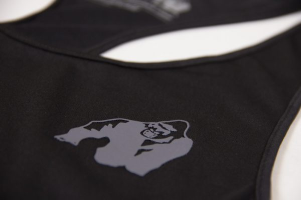 Fitness Tanktop Dames zwart grijs - Gorilla Wear Santa Monica-5