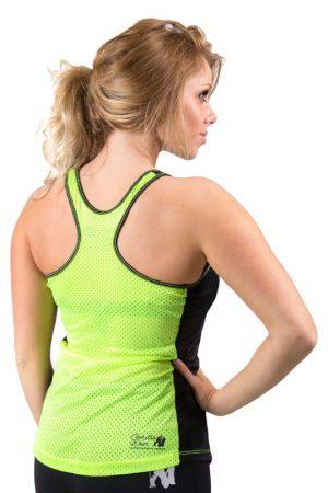Fitness Tanktop Dames zwart groen - Gorilla Wear Marianna-3