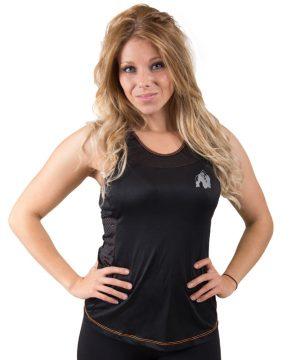 Fitness Tanktop Dames zwart oranje - Gorilla Wear Marianna-1