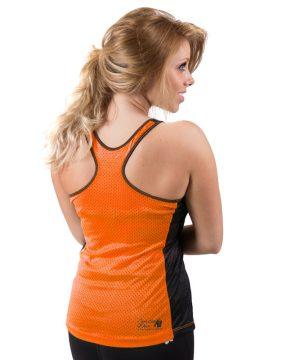 Fitness Tanktop Dames zwart oranje - Gorilla Wear Marianna-3