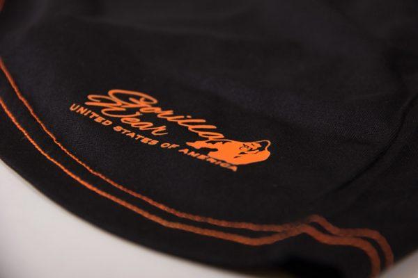 Fitness Tanktop Dames zwart oranje - Gorilla Wear Marianna-7