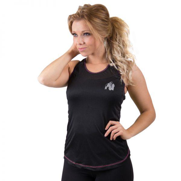 Fitness Tanktop Dames zwart roze - Gorilla Wear Marianna-1