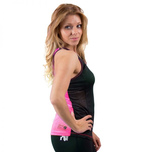 Fitness Tanktop Dames zwart roze - Gorilla Wear Marianna-2