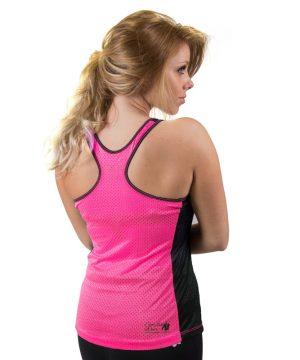 Fitness Tanktop Dames zwart roze - Gorilla Wear Marianna-3