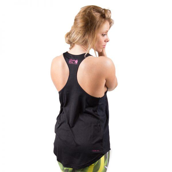 Fitness Tanktop Dames zwart roze - Gorilla Wear Santa Monica-2