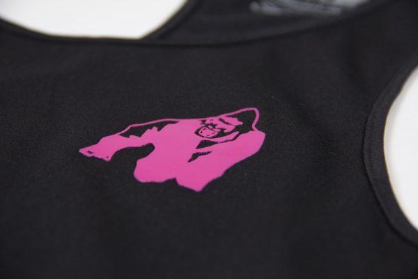 Fitness Tanktop Dames zwart roze - Gorilla Wear Santa Monica-4
