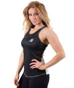 Fitness Tanktop Dames zwart wit - Gorilla Wear Marianna-1