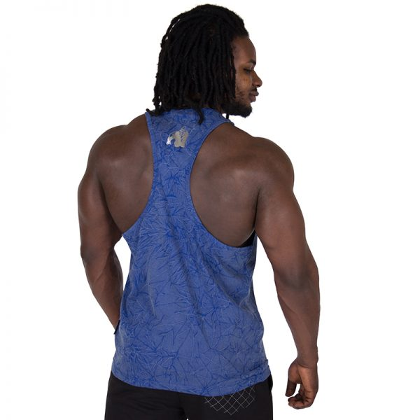 Fitness Tanktop Heren Blauw - Gorilla Wear Mill Valley-2