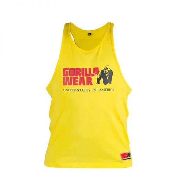 Fitness Tanktop Heren Geel - Gorilla Wear Classic-1