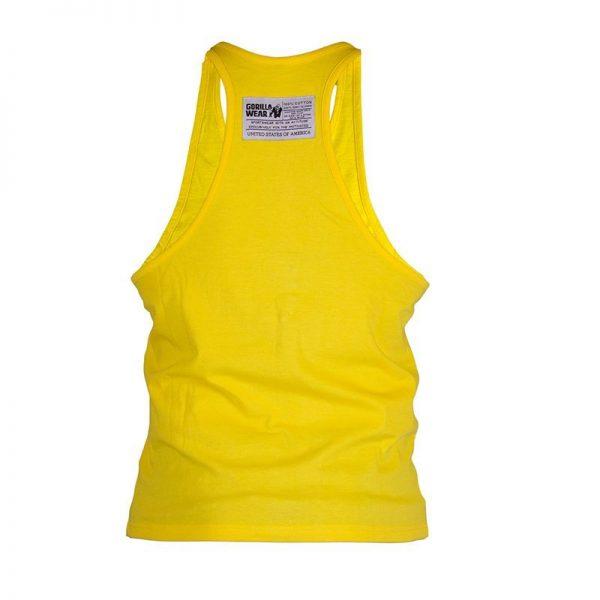 Fitness Tanktop Heren Geel - Gorilla Wear Classic-2