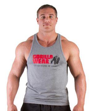 Fitness Tanktop Heren Grijs - Gorilla Wear Classic-1