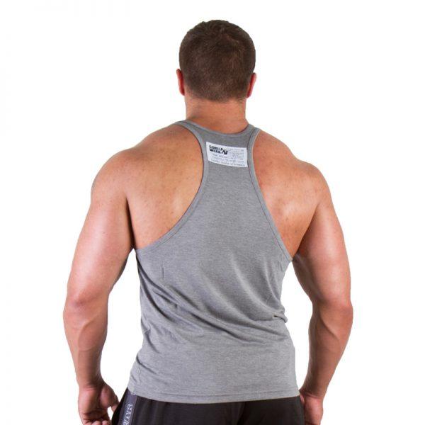 Fitness Tanktop Heren Grijs - Gorilla Wear Classic-2