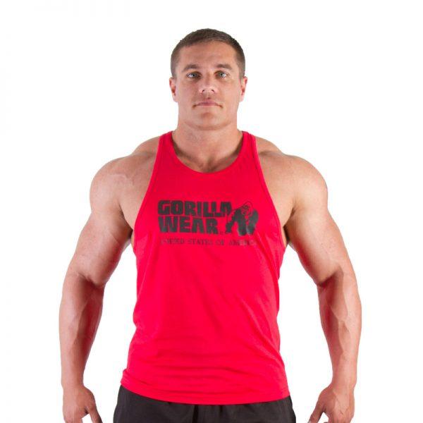 Fitness Tanktop Heren Rood - Gorilla Wear Classic-1