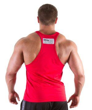 Fitness Tanktop Heren Rood - Gorilla Wear Classic-2
