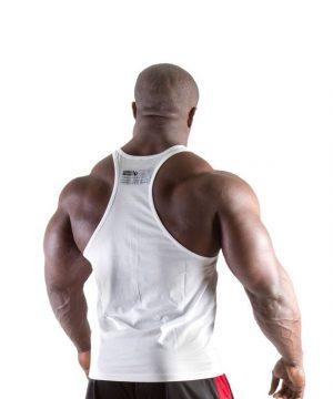 Fitness Tanktop Heren Wit - Gorilla Wear Classic-2