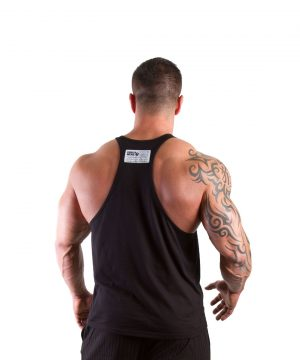 Fitness Tanktop Heren Zwart - Gorilla Wear Classic-2