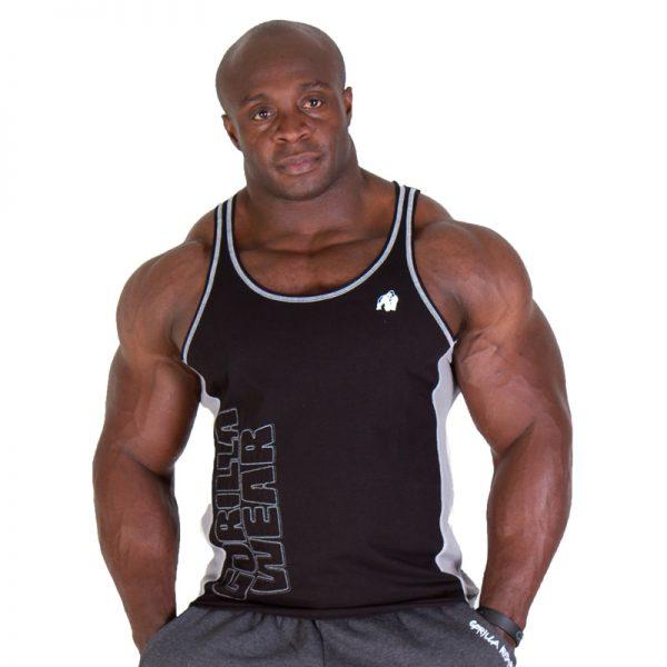 Fitness Tanktop Heren Zwart - Gorilla Wear Dunellen-1