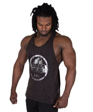 Fitness Tanktop Heren Zwart - Gorilla Wear Mill Valley-1