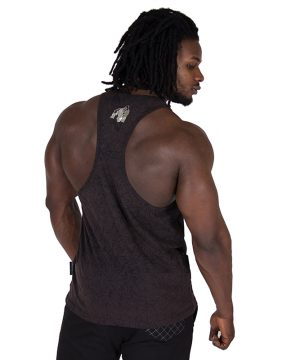 Fitness Tanktop Heren Zwart - Gorilla Wear Mill Valley-2
