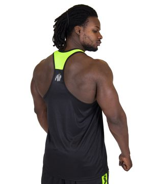 Fitness Tanktop Heren Zwart Groen - Gorilla Wear Lexington-2