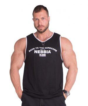 Fitness Tanktop Heren Zwart - Nebbia 395-1