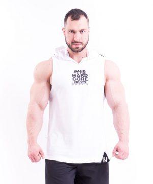 Fitness Tanktop Heren met Hoodie Wit - Nebbia 313-1