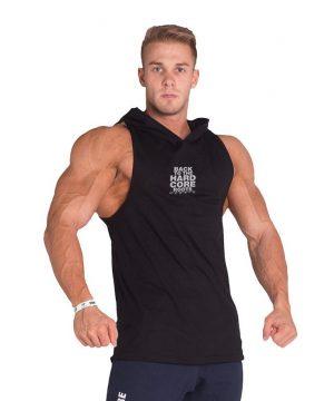 Fitness Tanktop Heren met Hoodie Zwart - Nebbia 313-1