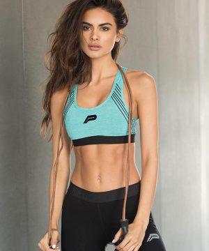 Fitness Top Dames Blauw - Pursue Fitness Iconic Sports Bra-1
