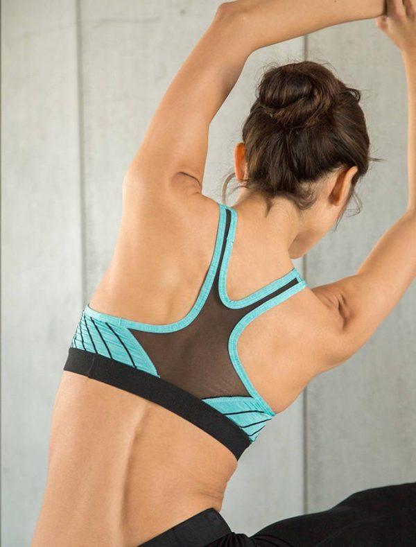 Fitness Top Dames Blauw - Pursue Fitness Iconic Sports Bra-2