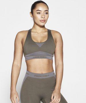Fitness Top Dames Kaki Seamless - Pursue Fitness-1