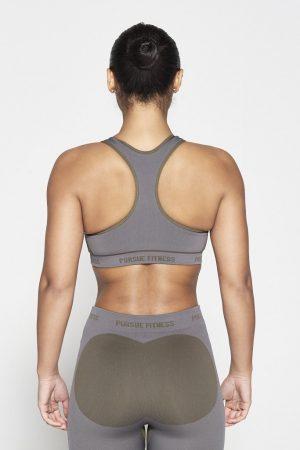 Fitness Top Dames Kaki Seamless - Pursue Fitness-2