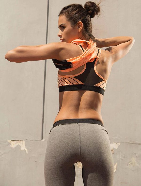 Fitness Top Dames Oranje - Pursue Fitness Iconic Sports Bra-2