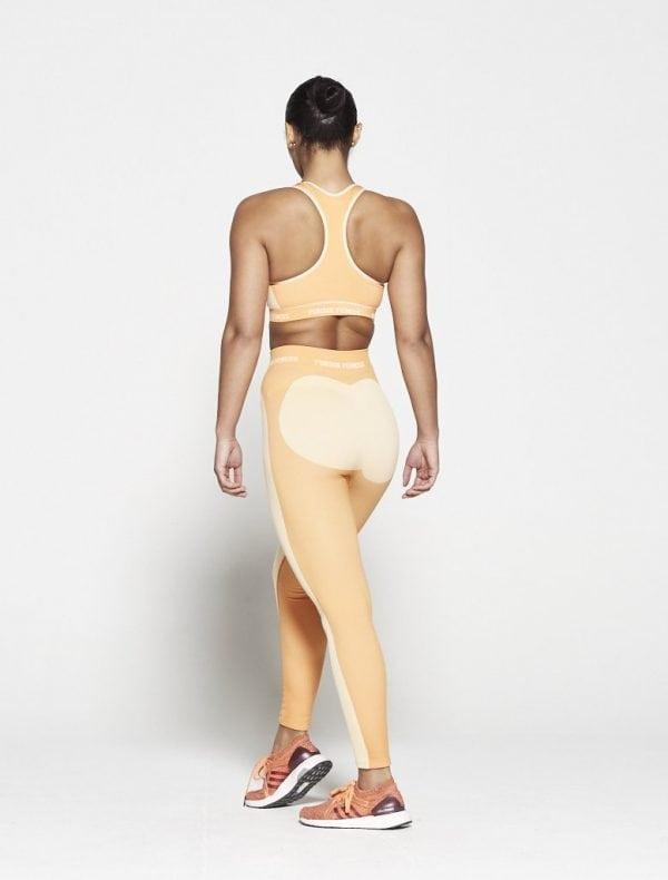 Fitness Top Dames Oranje Seamless - Pursue Fitness-2