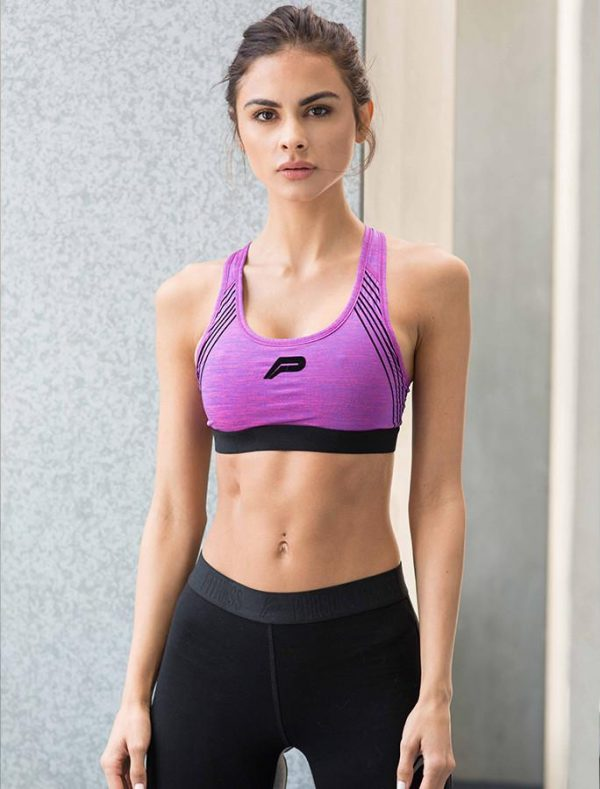 Fitness Top Dames Paars - Pursue Fitness Iconic Sports Bra-1