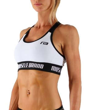 Fitness Top Dames Perform Wit - Muscle Brand-1