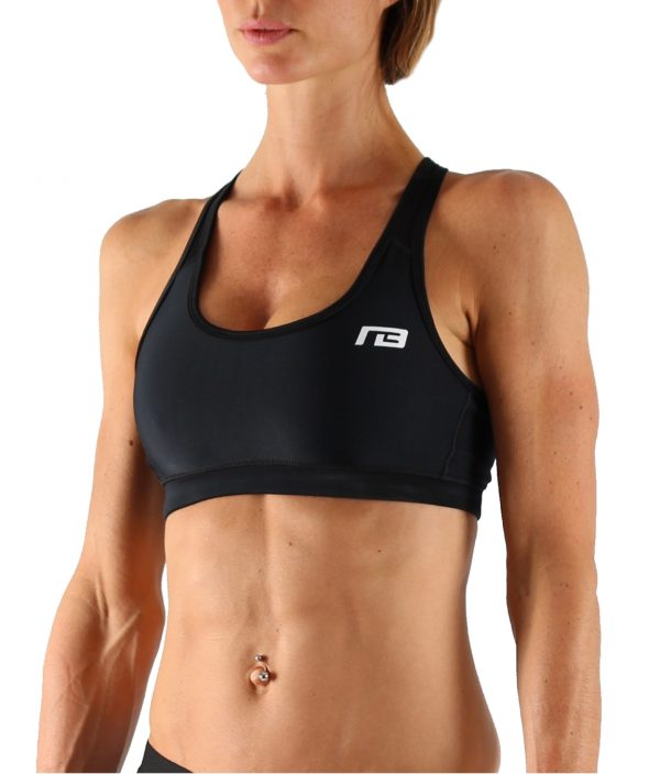 Fitness Top Dames Perform Zwart - Muscle Brand-1