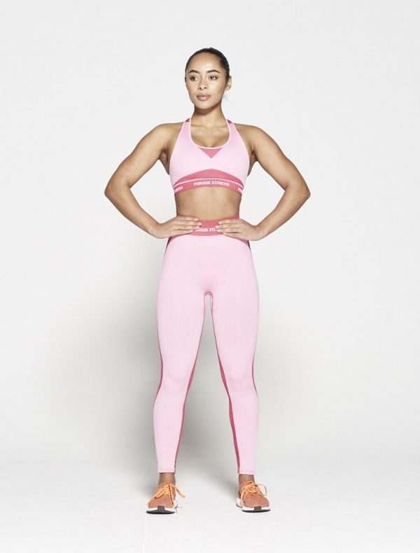 Fitness Top Dames Roze Seamless - Pursue Fitness-3