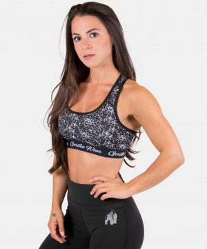 Fitness Top Dames Zwart Hanna - Gorilla Wear-1