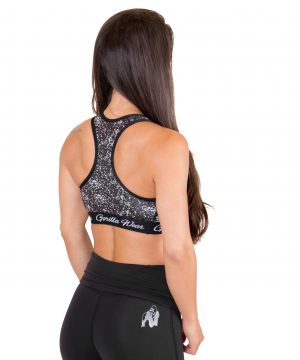Fitness Top Dames Zwart Hanna - Gorilla Wear-2