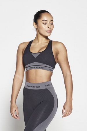 Fitness Top Dames Zwart Seamless - Pursue Fitness-1