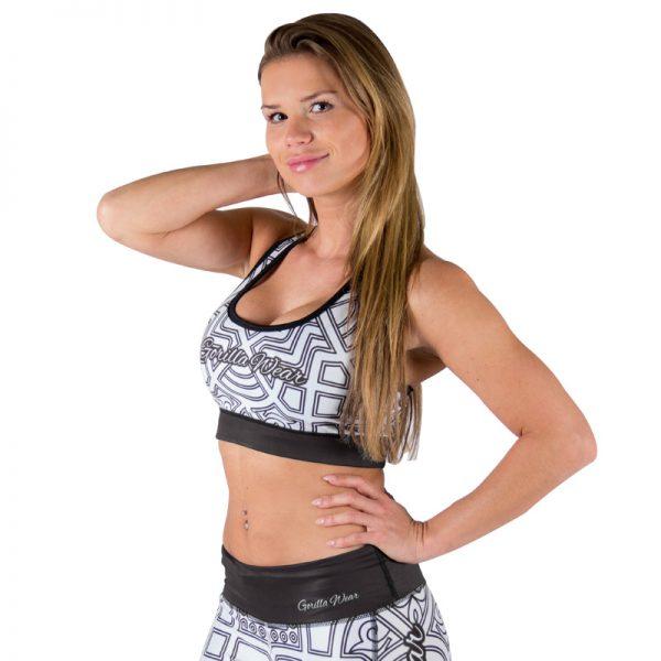 Fitness Top Dames Zwart wit - Gorilla Wear Pueblo-1